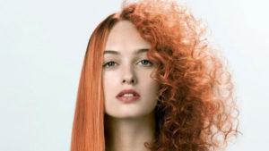 Fryzura włosy proste i kręcone