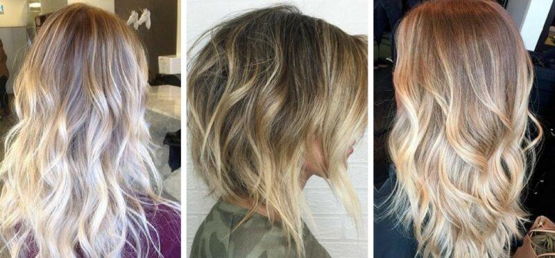 pasemka na blond włosach