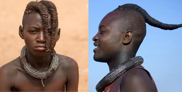 Himba-chłopiec-i-mężczyzna