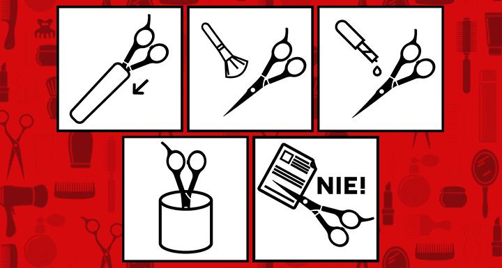 jak dbać o nożyczki fryzjerskie