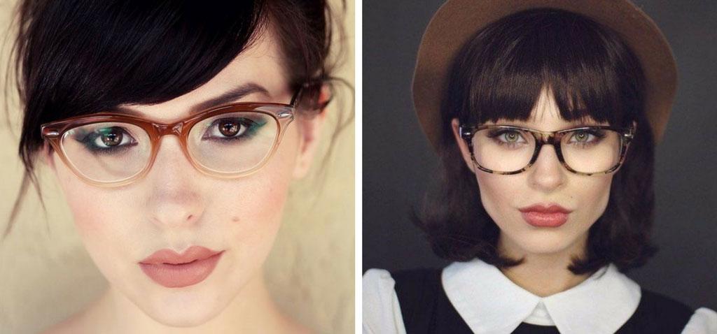 jak nosisz okulary do grzywki