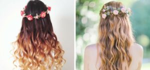 fryzura z wiankiem wianek na włosach