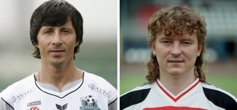 fajne fryzury piłkarzy lata 90.
