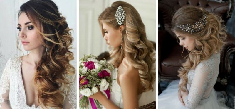 fryzury na wesele włosy kręcone