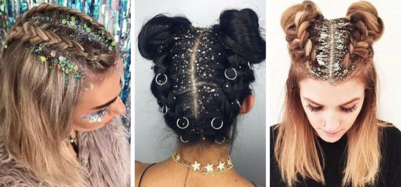kolorowe włosy pomysły na fryzury festiwalowe