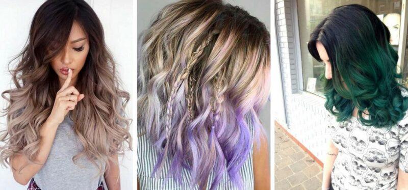 kolorowe końcówki włosów