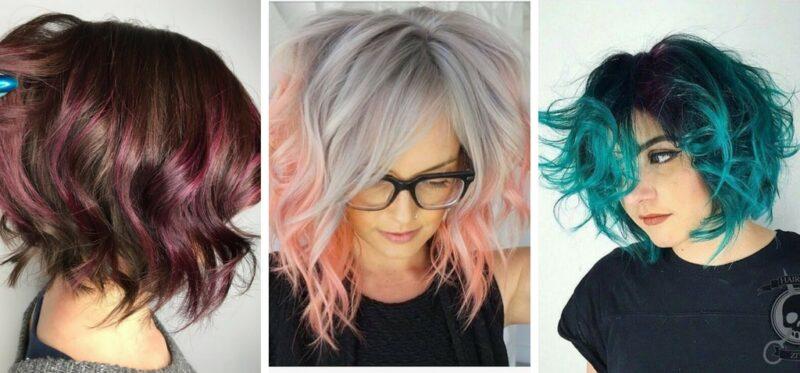 krótkie kolorowe włosy