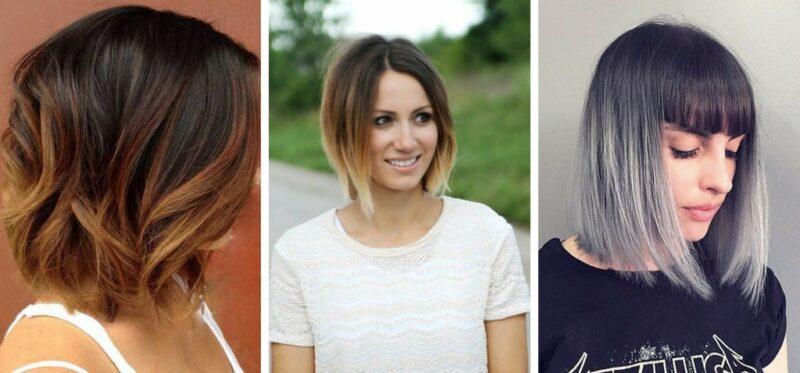 ombre krotkie włosy