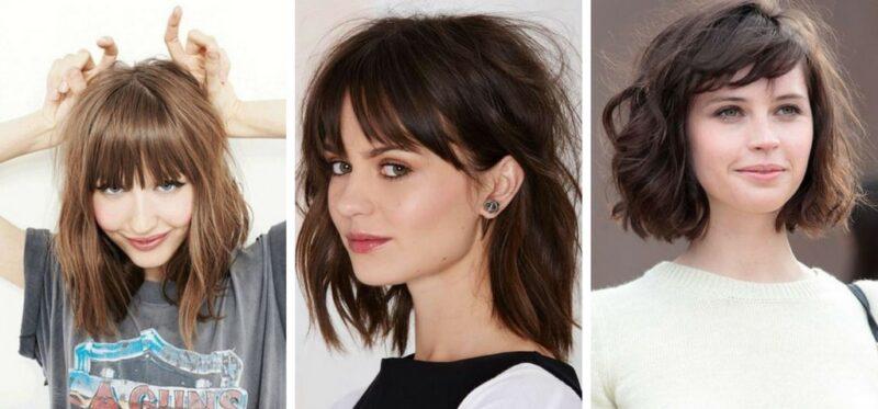 krótkie włosy z grzywką 2018