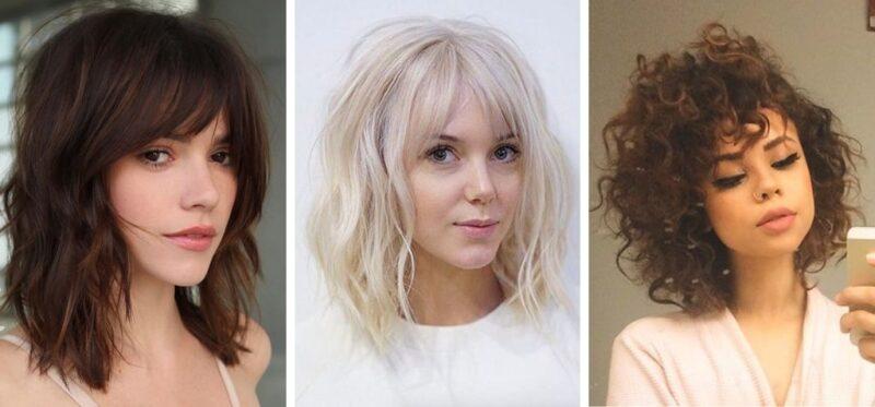 baby bangs, lob, grzywka z krótkimi włosami, krótkie włosy 2019