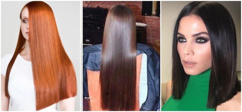 długie lustrzane włosy