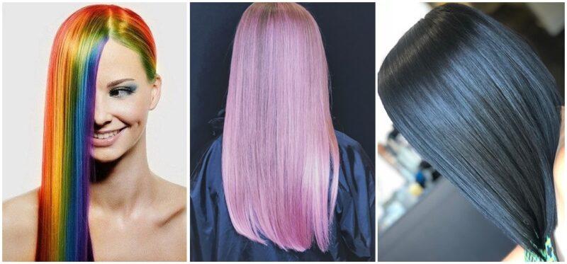 kolorowe błyszczące włosy