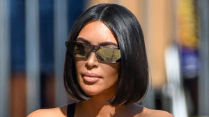 Kim Kardashian Glass Hair