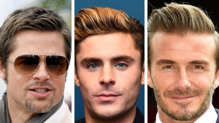 Męskie fryzury - Brad Pitt, David Backham