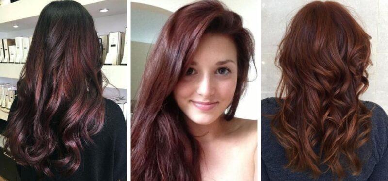 czerwone włosy, czerwony brąz, ciemny brąz, burgund
