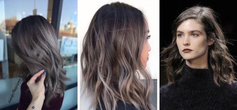 popielaty brąz, mushroom brown hair, szare włosy, ciemne włosy