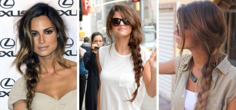 warkocz długie włosy, fajne i łatwe fryzury