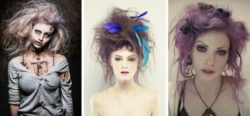 szalone fryzury na halloween