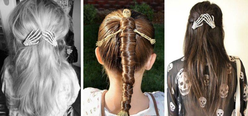 fryzury na halloween z dodatkami
