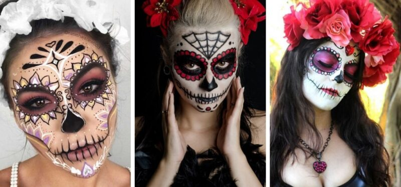 makijaż halloween w stylu sugar skull make-up