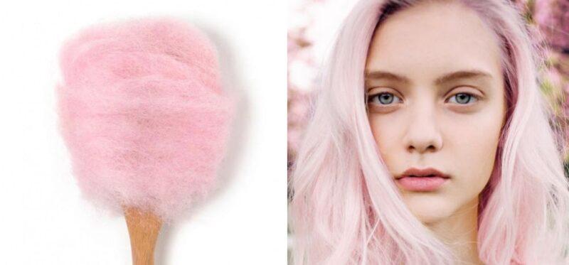 włosy wata cukrowa