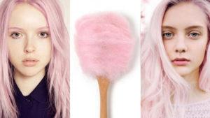 efekt waty cukrowej na włosach