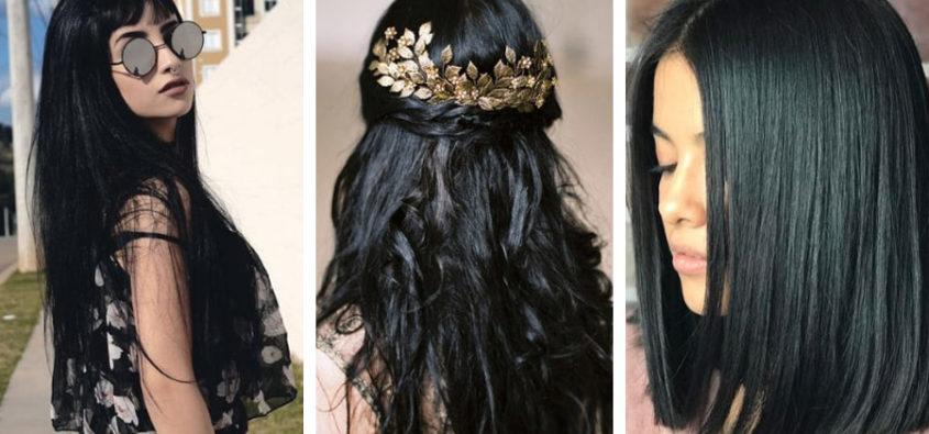 Fryzury czarne włosy