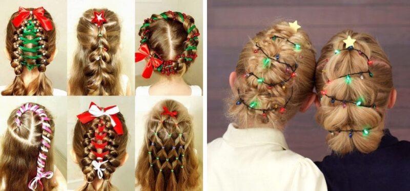 cudowne fryzury dla dziewczynek na wigilię, fryzury dla dziewczynek na sesje zdjęciowe