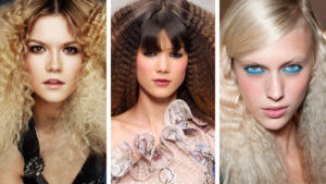 Fryzury karbowane włosy