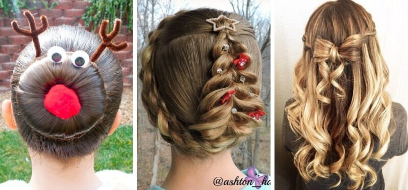 eleganckie fryzury dla dziewczynek na święta bożego narodzenia, jak uczesać córeczkę na wigilię
