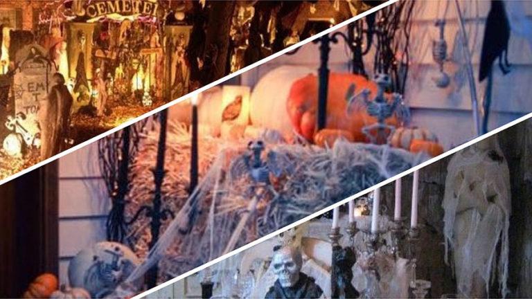 Halloweenowe dekoracje domu