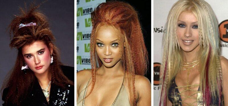 gwiazdy w karbowanych włosach