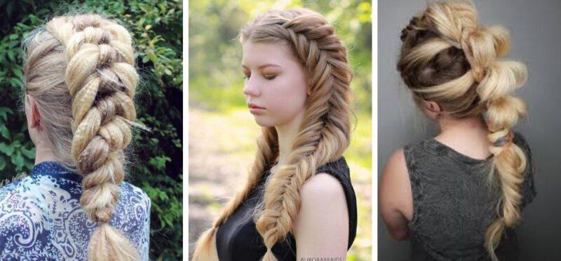 warkocze z karbowanych włosów