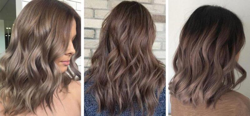 refleksy na brązowych włosach