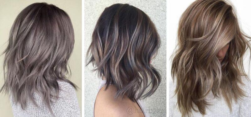 brązowe włosy z pasemkami