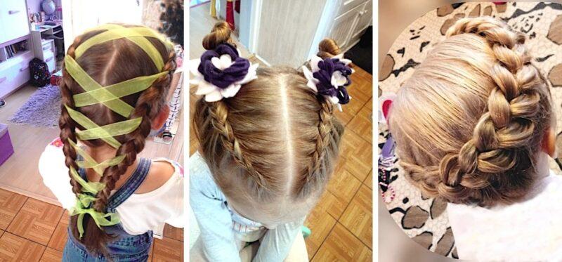 warkocze holenderskie fryzury, jak uczesać dziecko do szkoły