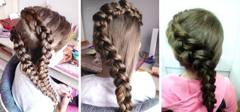warkocz holenderski, fryzury dla małych dziewczynek, fryzury dziewczynki długie włosy