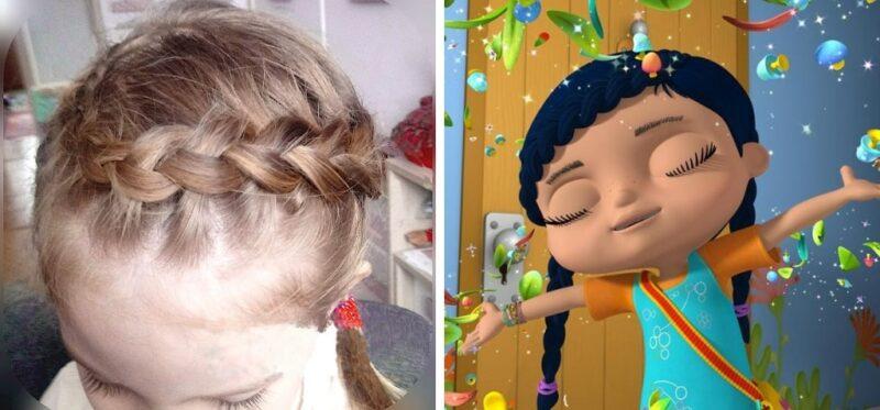 fryzura a la wissper, warkocz wissper, fryzury dla małych dziewczynek