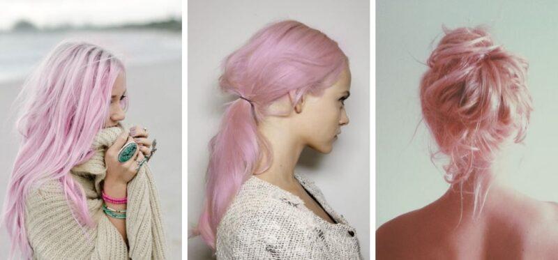cotton candy hair, różowe włosy, trendy 2018, kolorowe włosy, pastelowe włosy, efekt waty cukrowej na głowie