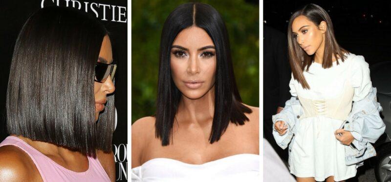glass hair, kim kardashian, błyszczące włosy, szklane włosy, jakie fryzury noszą gwiazdy