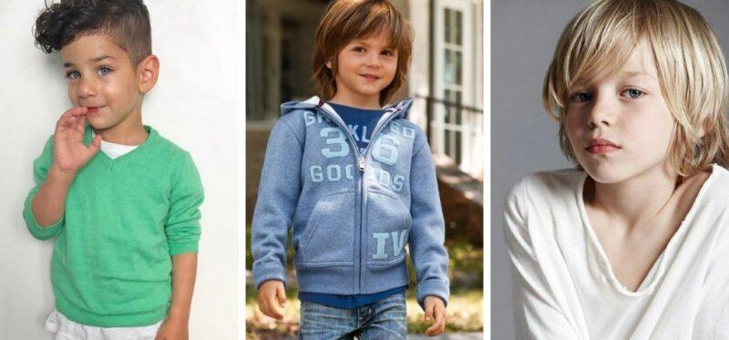 grzywka u małego chłopca, grzywka u chłopaka, fryzury z grzywką dla małych chłopców
