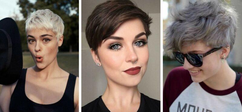 krótkie wlosy, krótkie fryzury, krótkie cięcia, trendy 2018