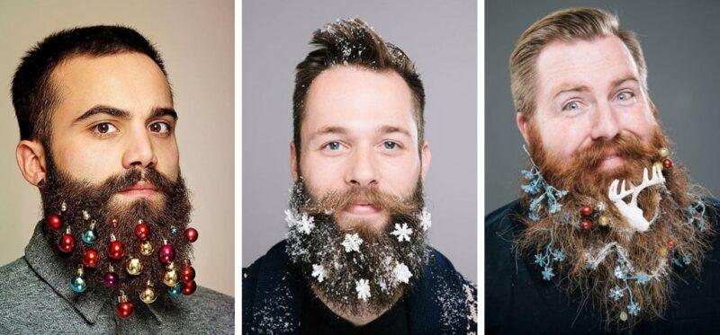 moda na brodę, bombki w brodzie