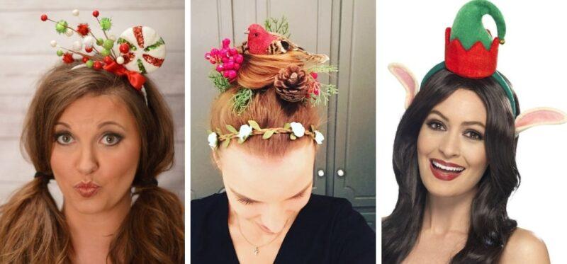 opaski z motywami świątecznymi na włosy
