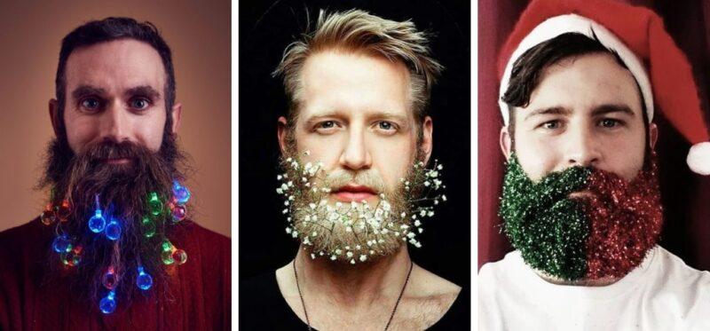 lampki do brody, broda z lampkami, lampki świąteczne na brode, christams beards
