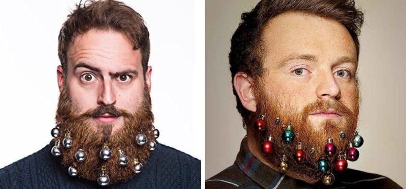 stylizacja brody na święta, christams beards, świąteczni brodacze