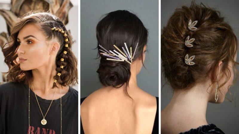 eleganckie spinki, bal studniówkowy, fryzury studniówkowe