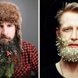 christams beard, broda na święta, jak przystroić brodę na święta, świąteczna broda, glitter beard