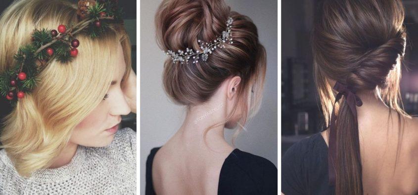 jak uczesać się na święta bożego narodzenia 2018, pomysły na eleganckie fryzury z długich i krótkich włosów, pomysły na fryzury dla dziewczynek