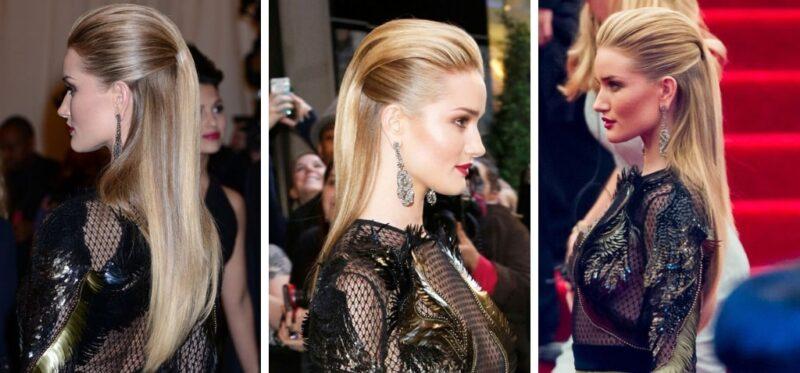 eleganckie fryzury dla dziewczyn, fryzura na studniówkę 2019, proste włosy 2019